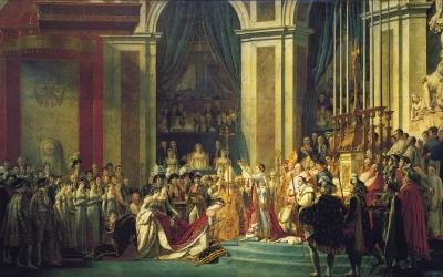 Sacre de l'empereur Napoléon Ier et couronnement de l'impératrice Joséphine dans la cathédrale Notre-Dame de Paris, le 2 décembre 1804